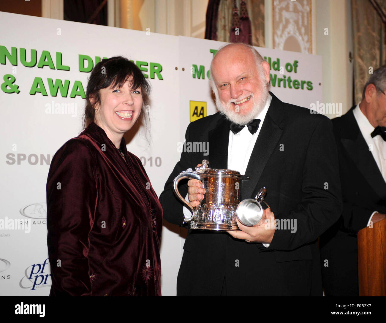 Doug Nye and Charlotte Bight at the annual awards ceremony of the Motoring Writers Guild 2010 - Stock Image