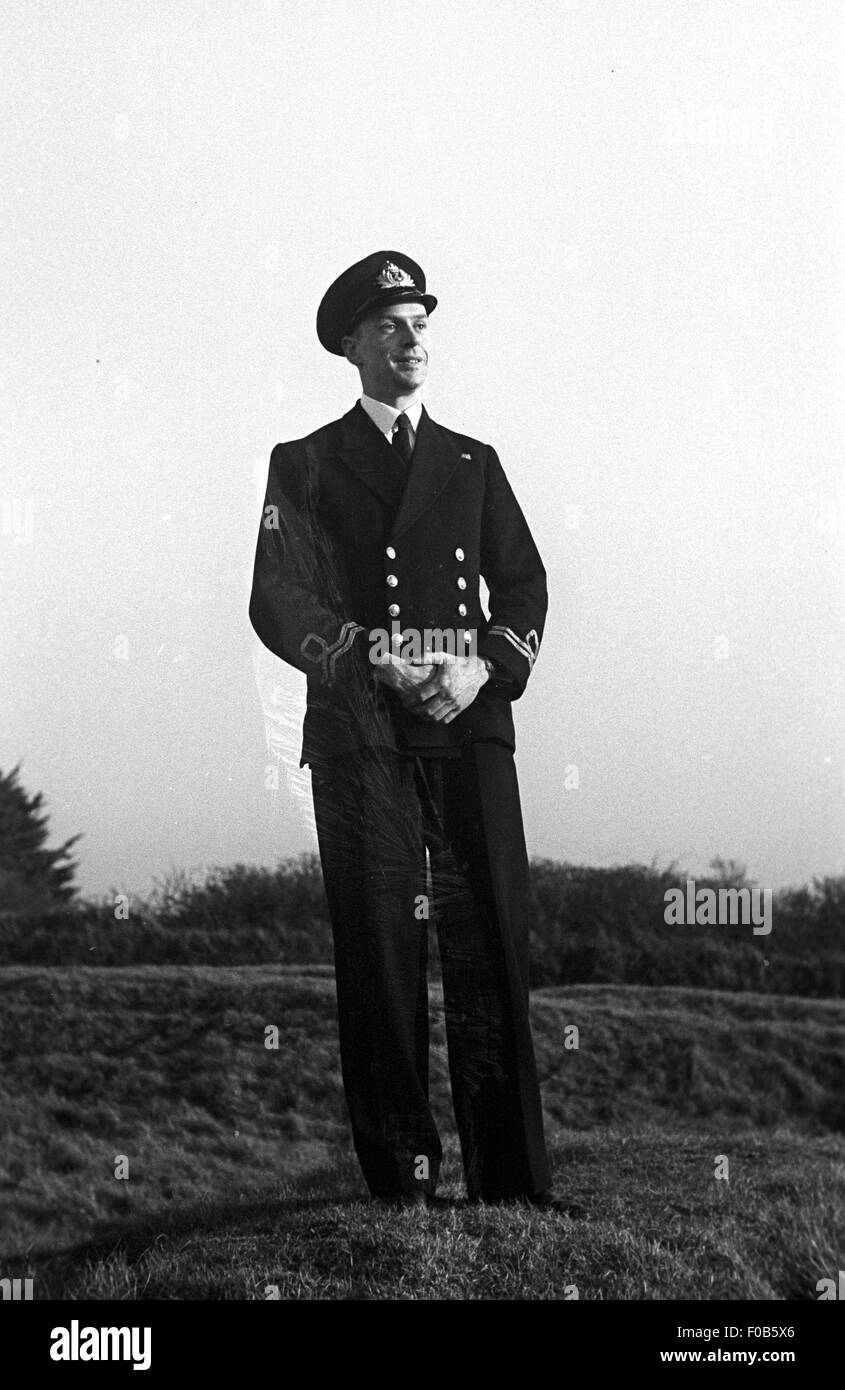 Portrait of a Royal British Naval Officer in uniform Stock Photo