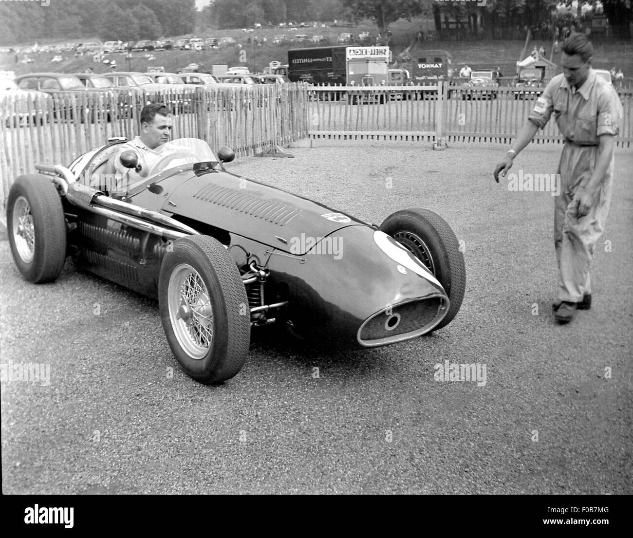Horace Gould in his Maserati - Stock Image