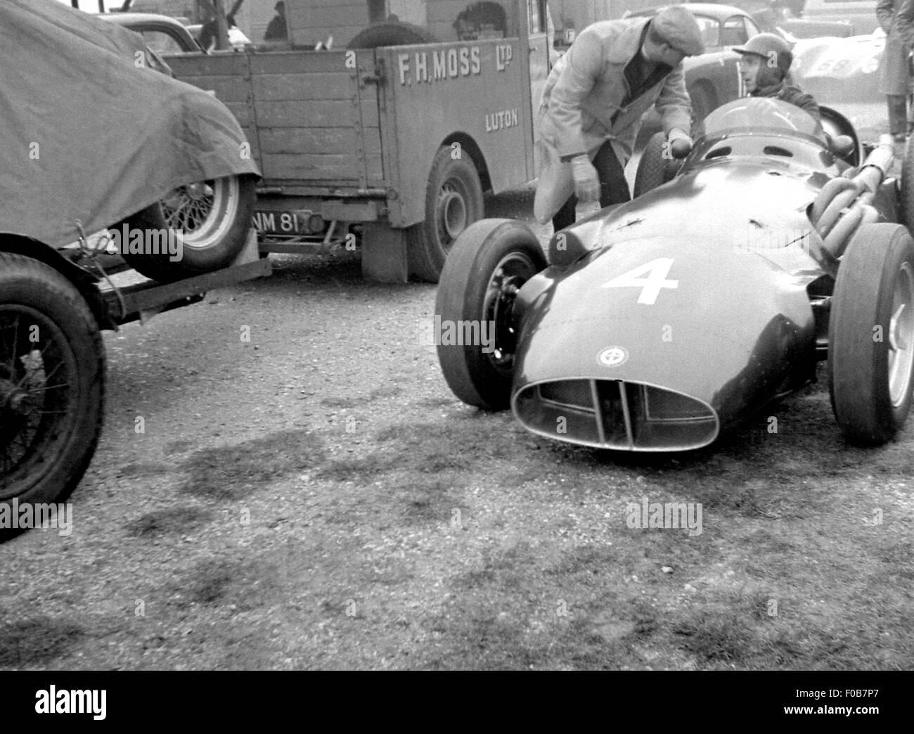 Tony Brooks in his BRM - Stock Image