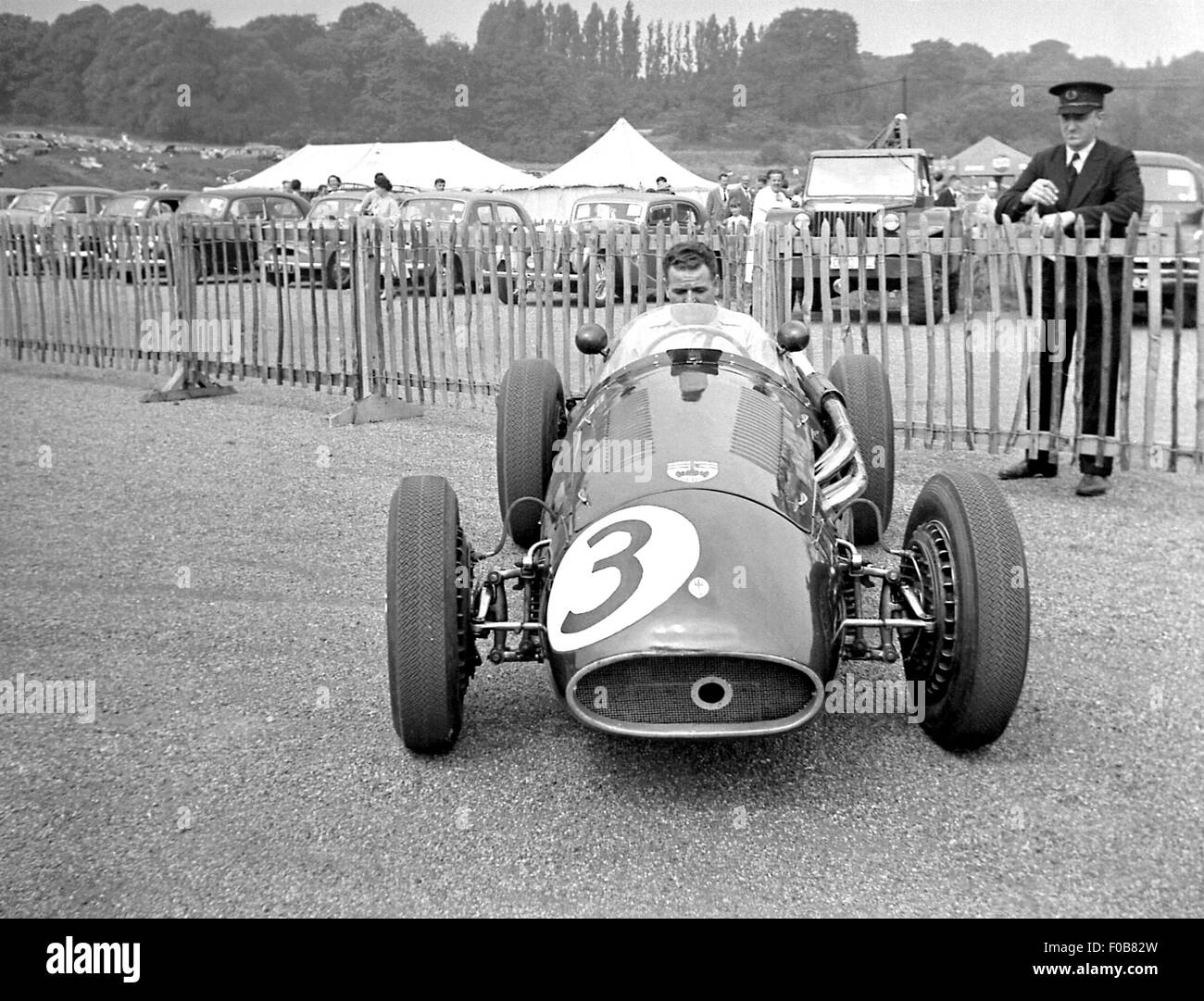 Horace Gould in his Maserati 250F - Stock Image