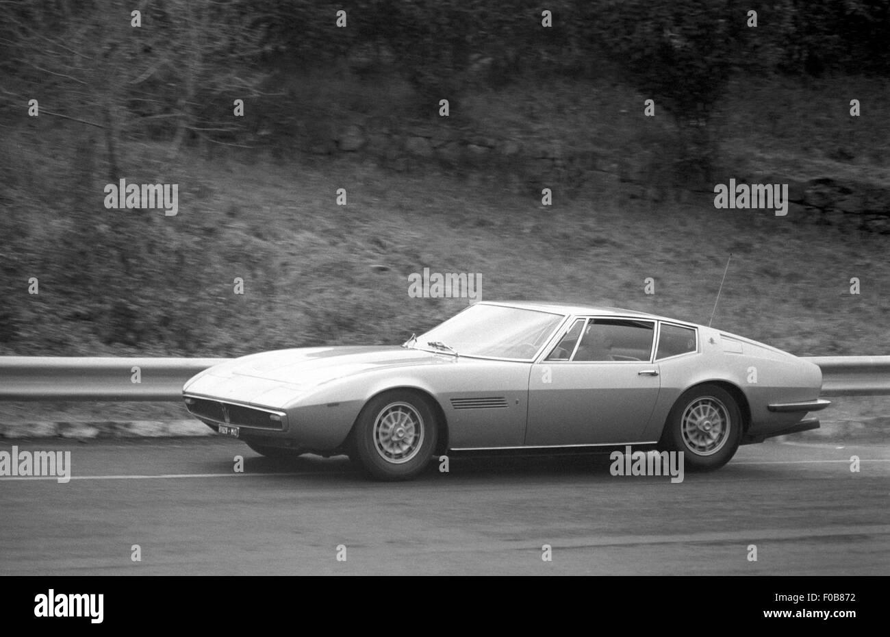 Maserati Ghibli production Gran Turismo in action - Stock Image