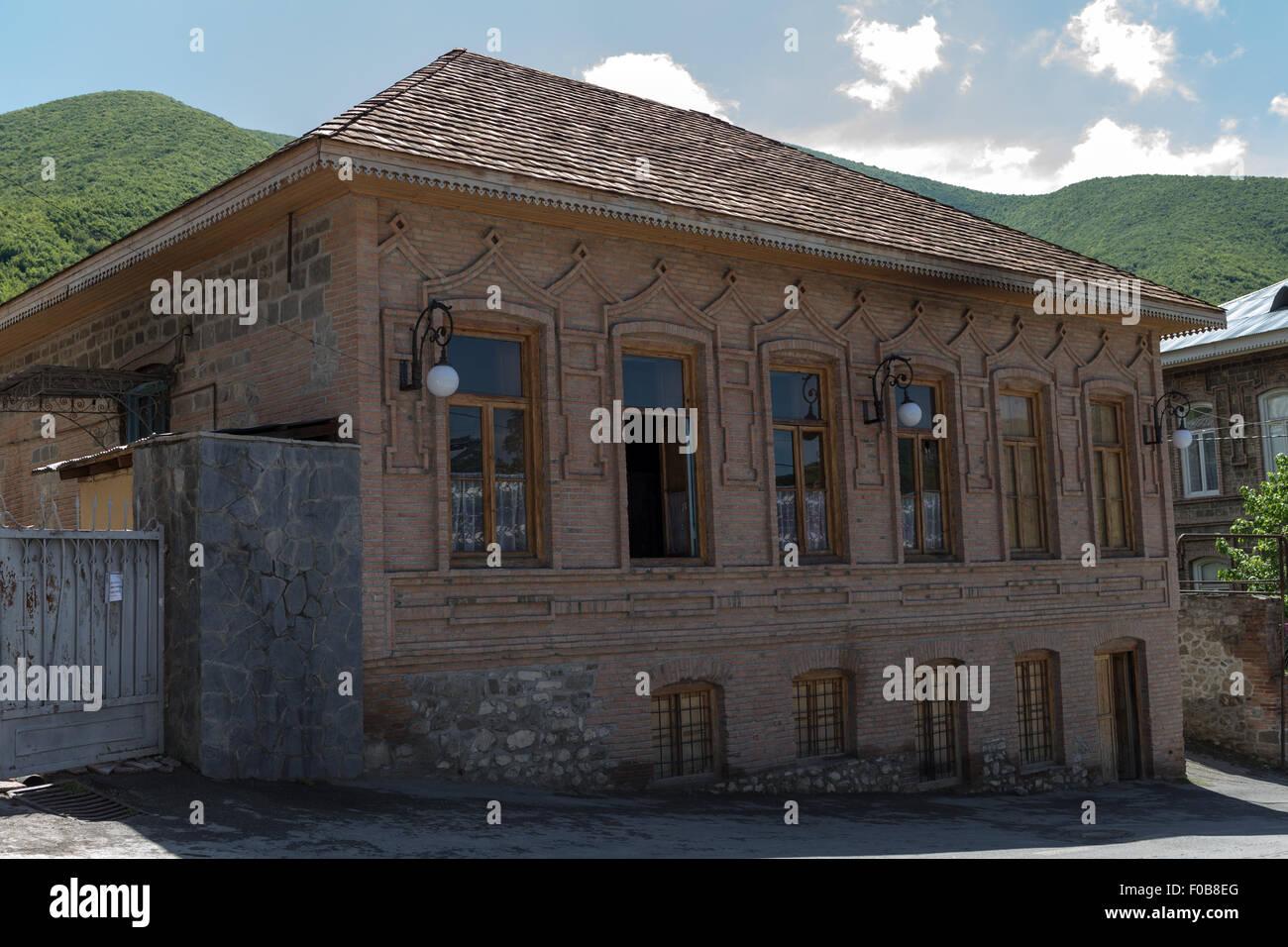 Brick buildings Sheki Azerbaijan - Stock Image