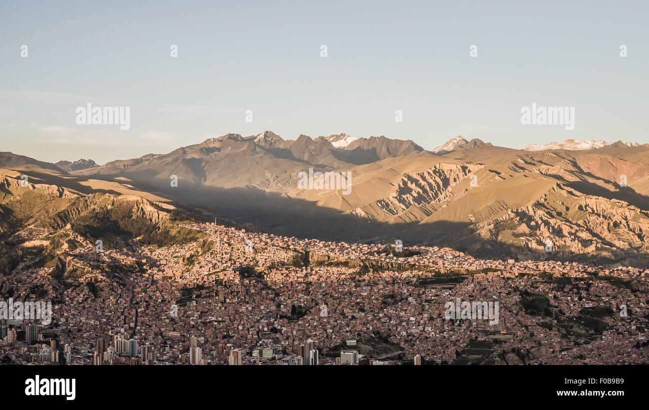 view over la paz in bolivia - Stock Image