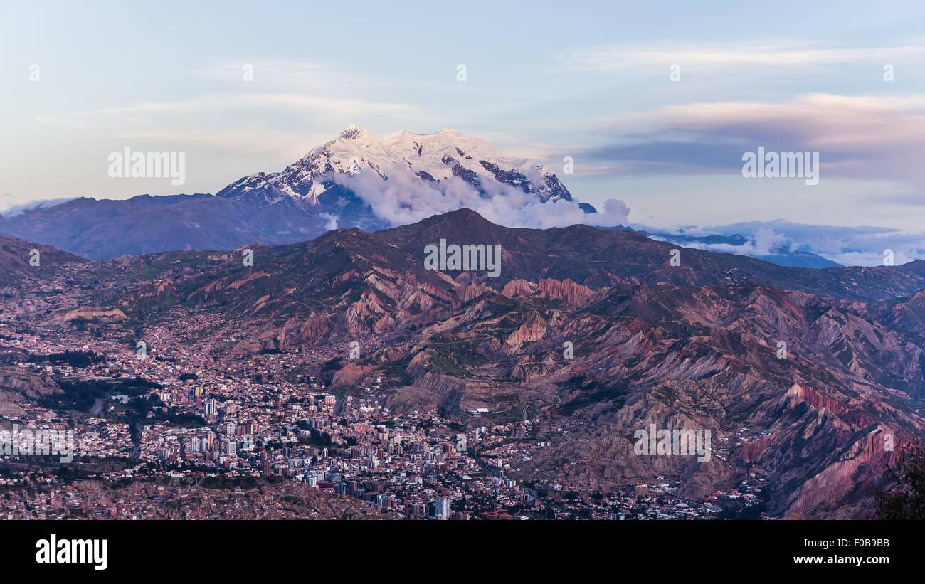 view over la paz in bolivia - Stock Image