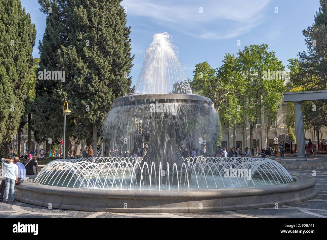 Fountain Square Baku Azerbaijan Stock Photo