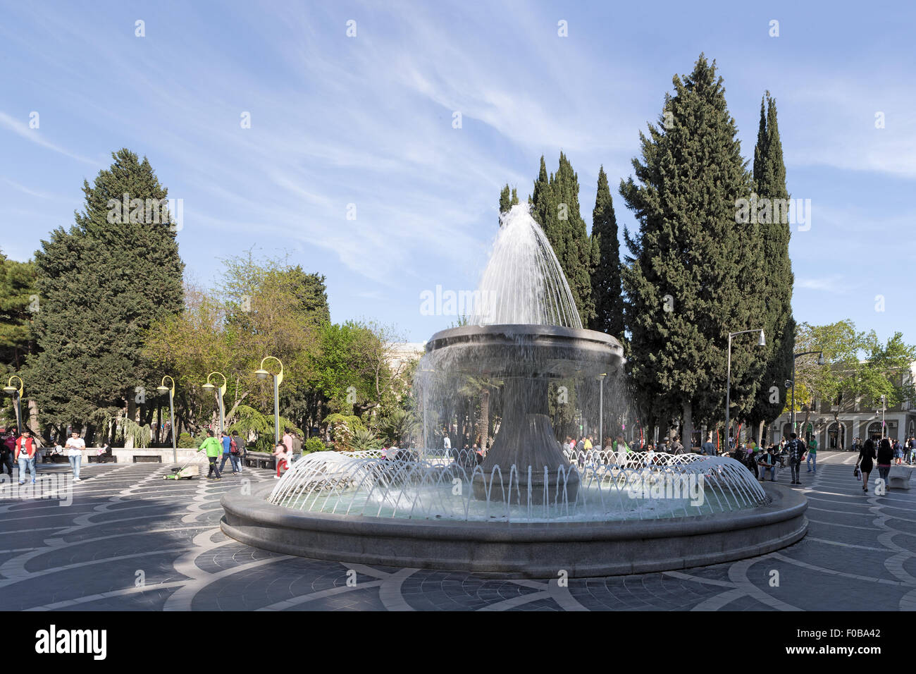 Fountain Square Baku Azerbaijan Stock Photo