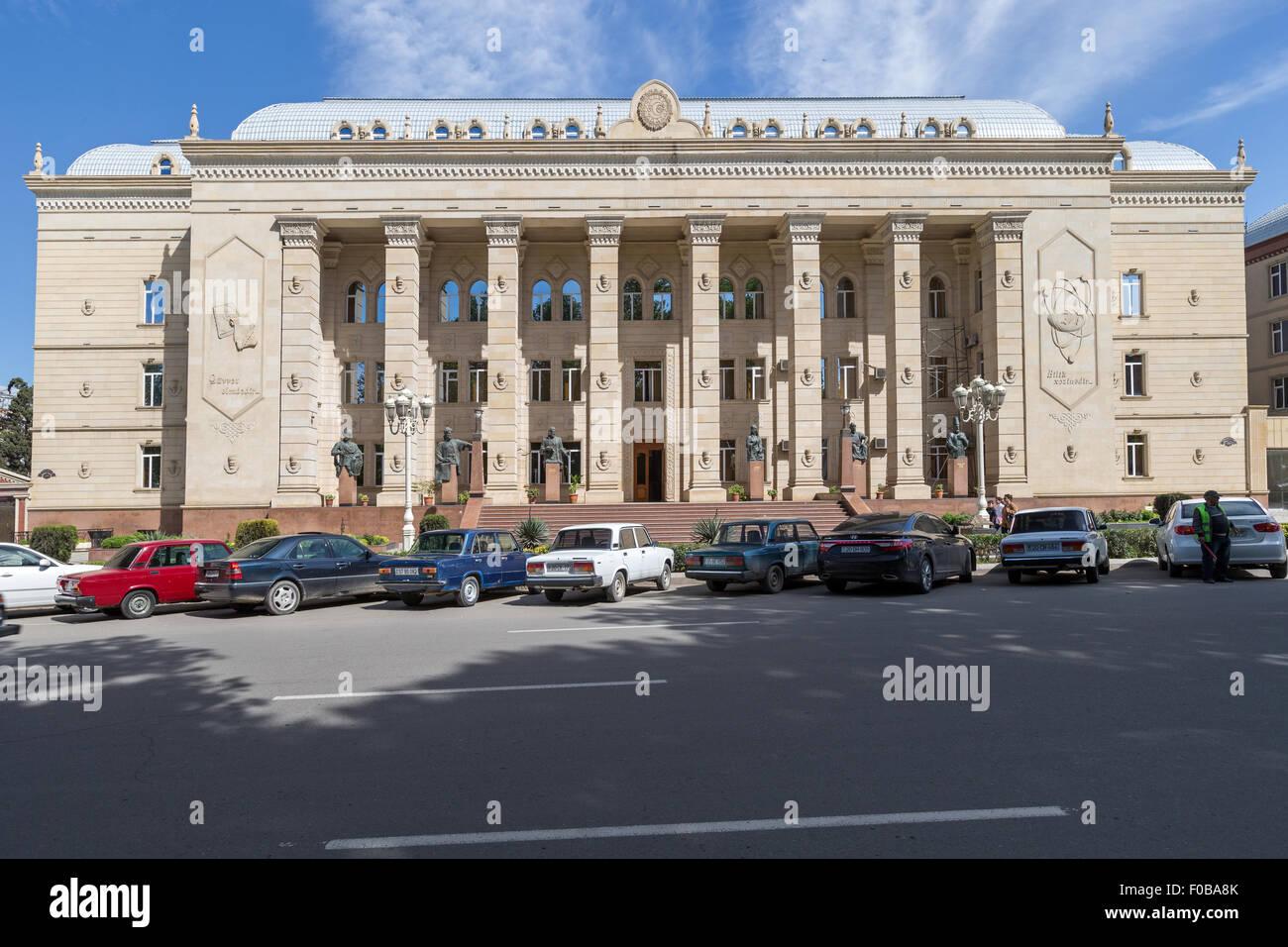 University Building Soviet style Ganja Azerbaijan - Stock Image