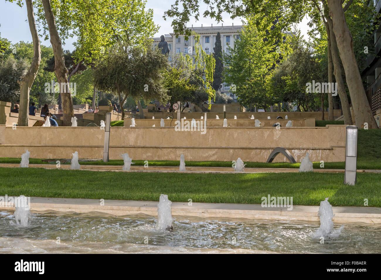 Nizami Park Baku Azerbaijan Stock Photo