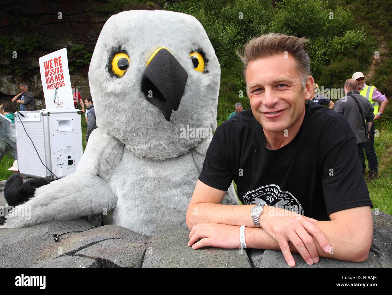 Broadcaster Chris Packham heads up the campaign against illegal persecution of hen harriers at Hen Harrier Day, Stock Photo