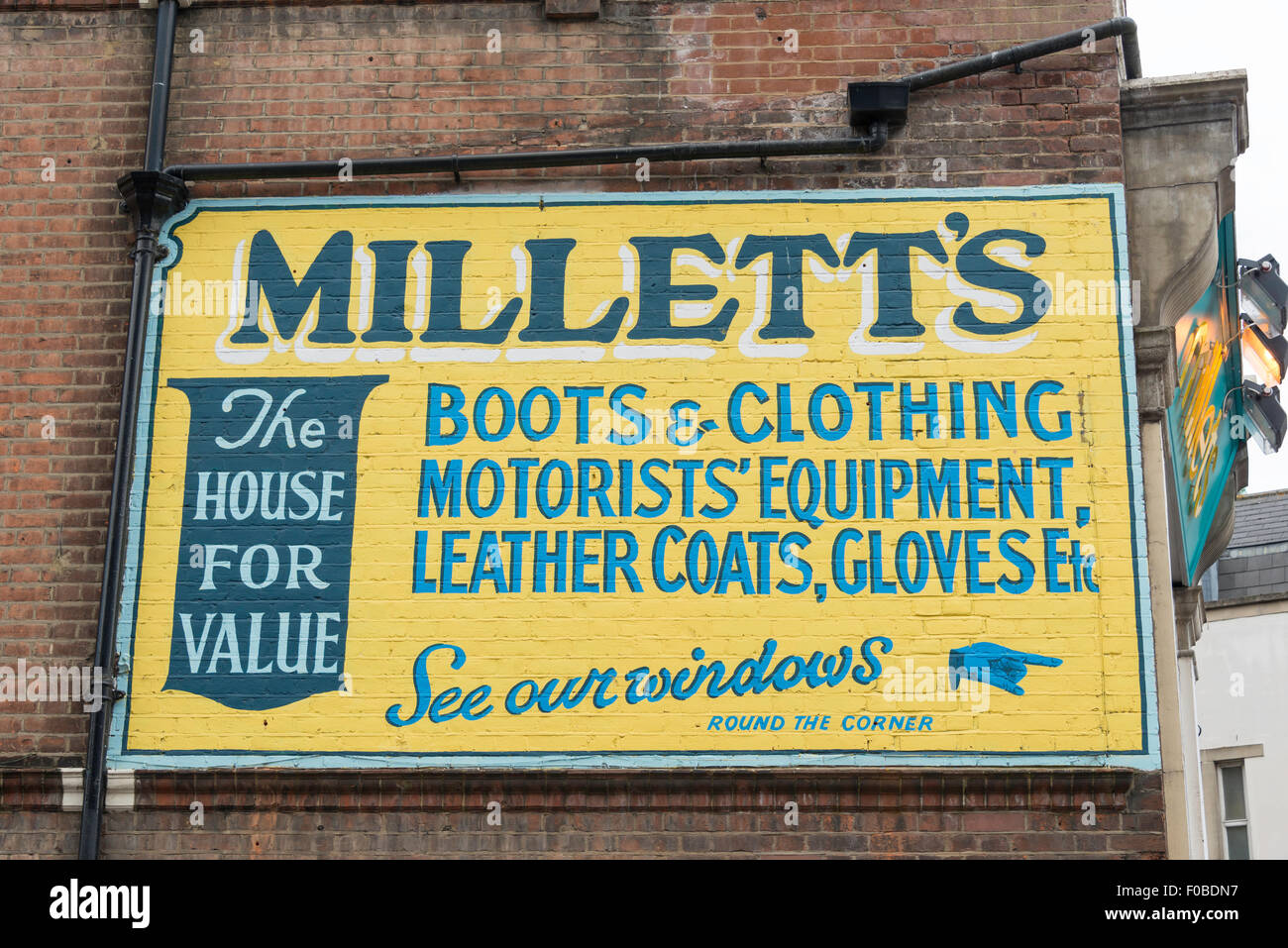 Millett's Store wall sign, Surrey Street, Croydon, London Borough of Croydon, Greater London, England, United - Stock Image