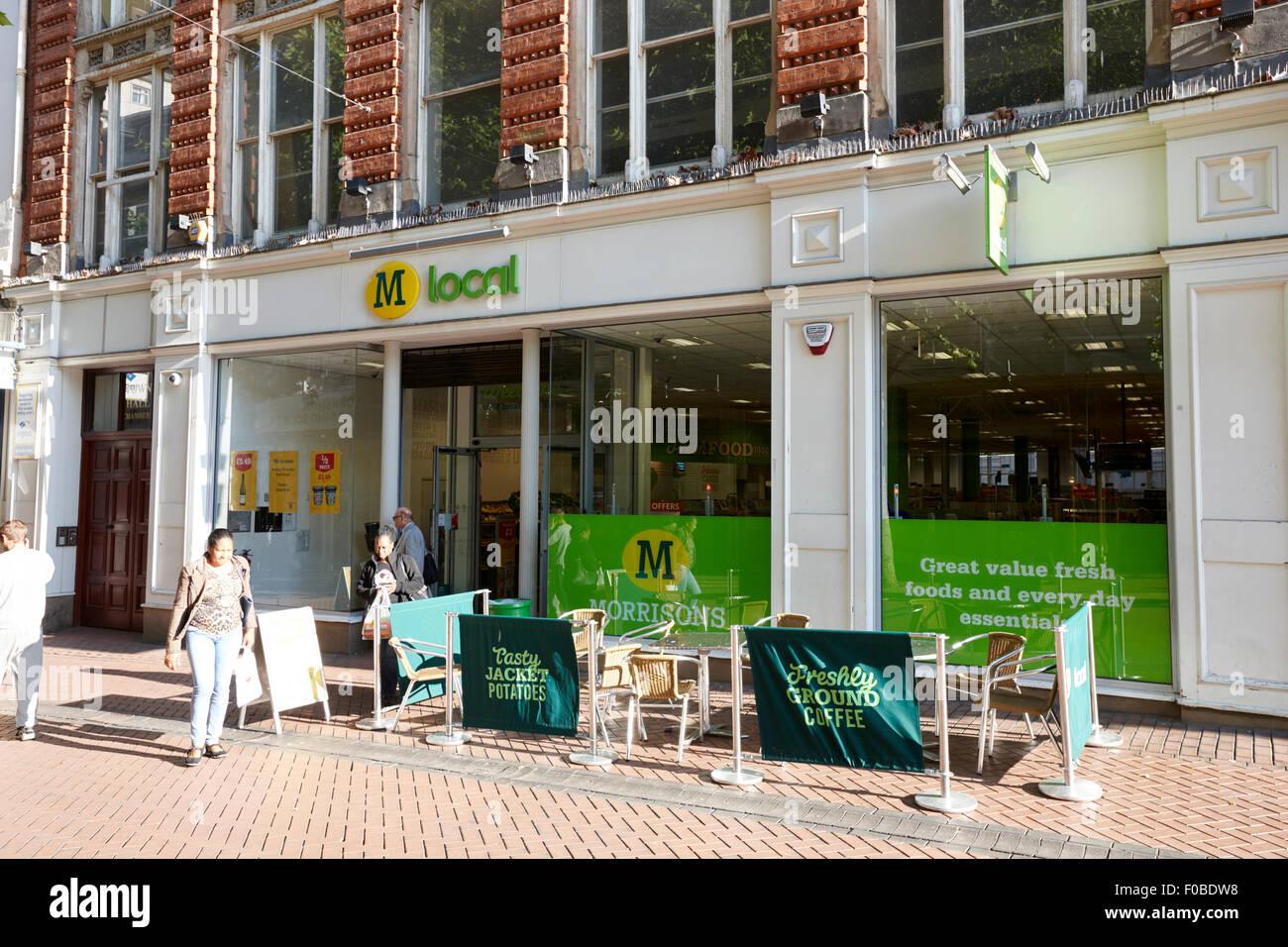 morrisons local store in Birmingham city centre UK - Stock Image