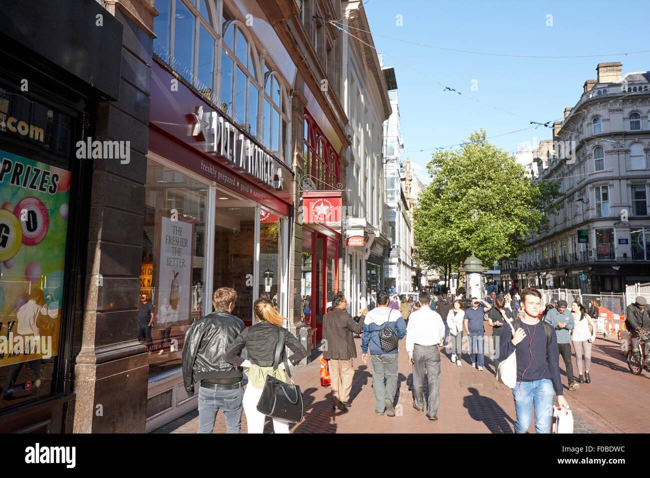 busy new street shopping area Birmingham city centre UK - Stock Image