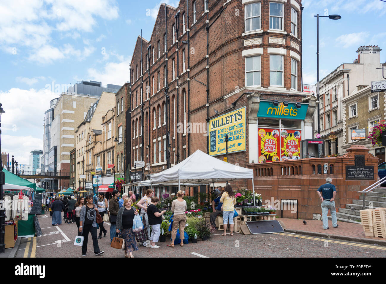 Surrey Street Market, Surrey Street, Croydon, London Borough of Croydon, Greater London, England, United Kingdom - Stock Image