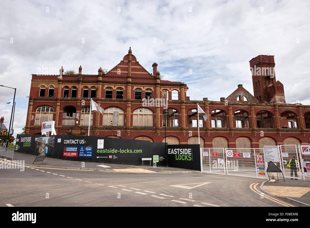 eastside locks redevelopment site Birmingham UK - Stock Image