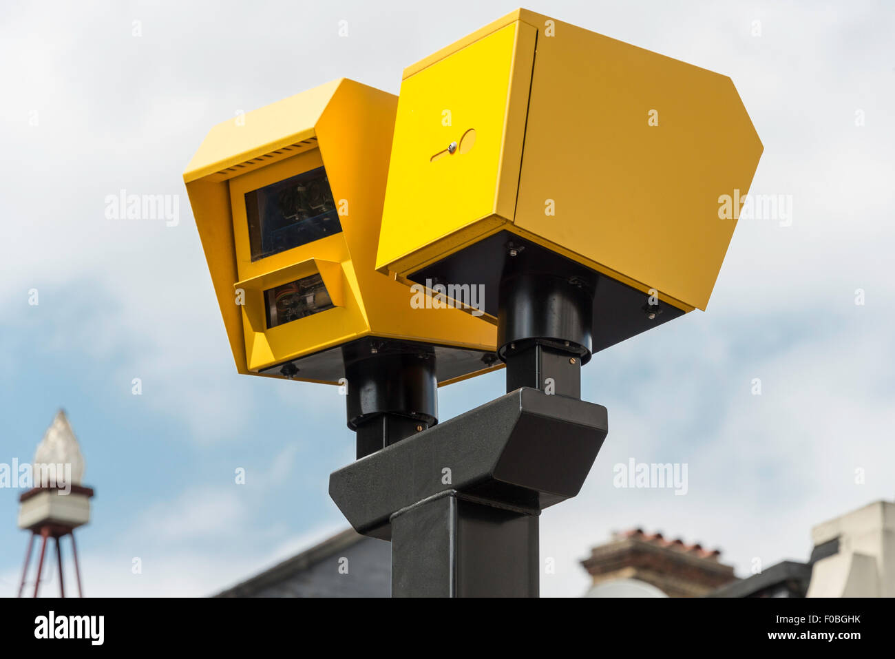 Speed cameras on Islington High Street, Islington, London Borough of Islington, London, England, United Kingdom - Stock Image