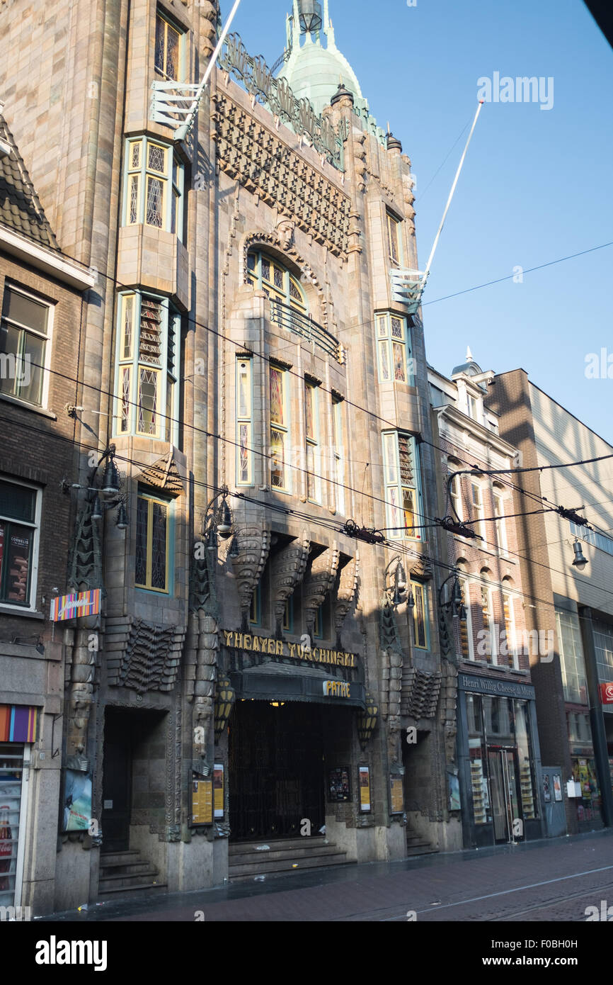 Exterior of the Pathé Tuschinski cinema in Amsterdam, Holland. - Stock Image