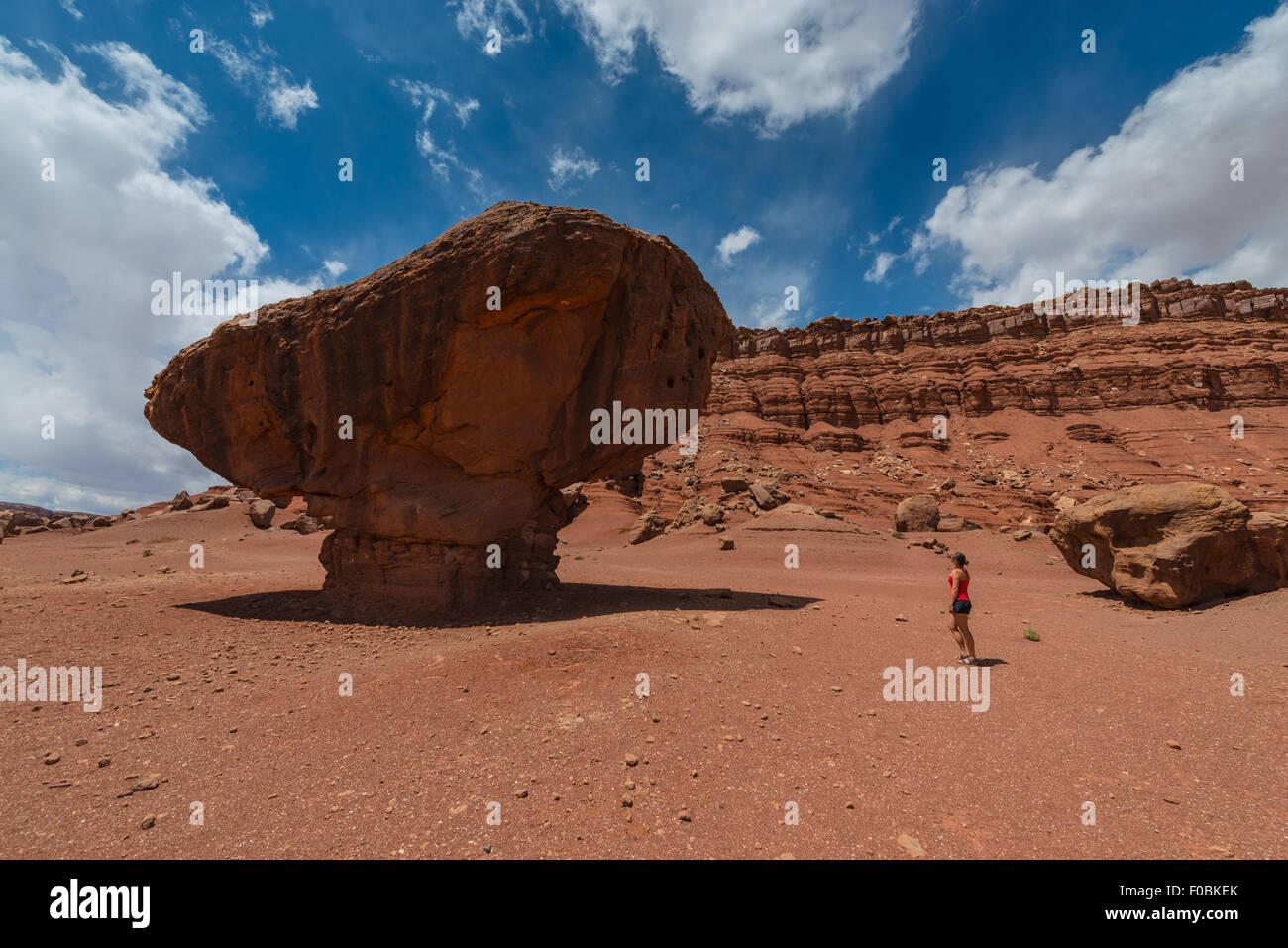 Balanced Rock Lees Ferry Coconino County Arizona Horizonal Composition - Stock Image