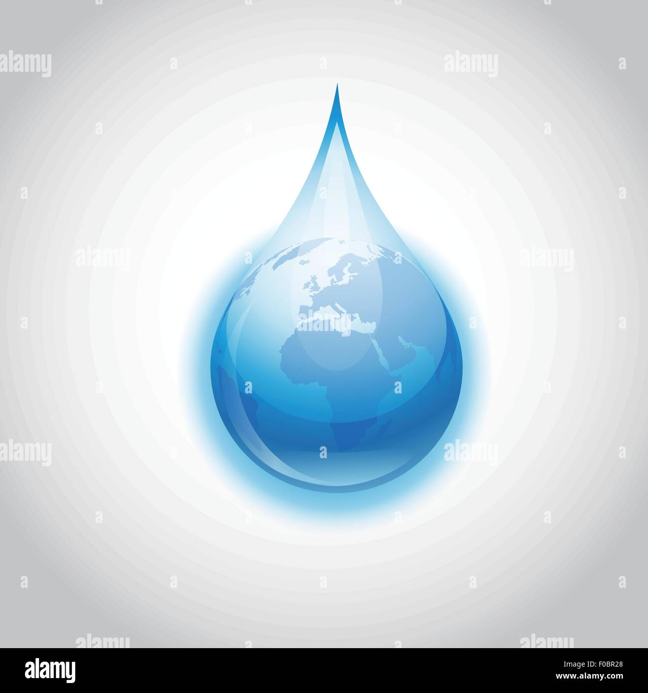 Earth water drop - Stock Vector