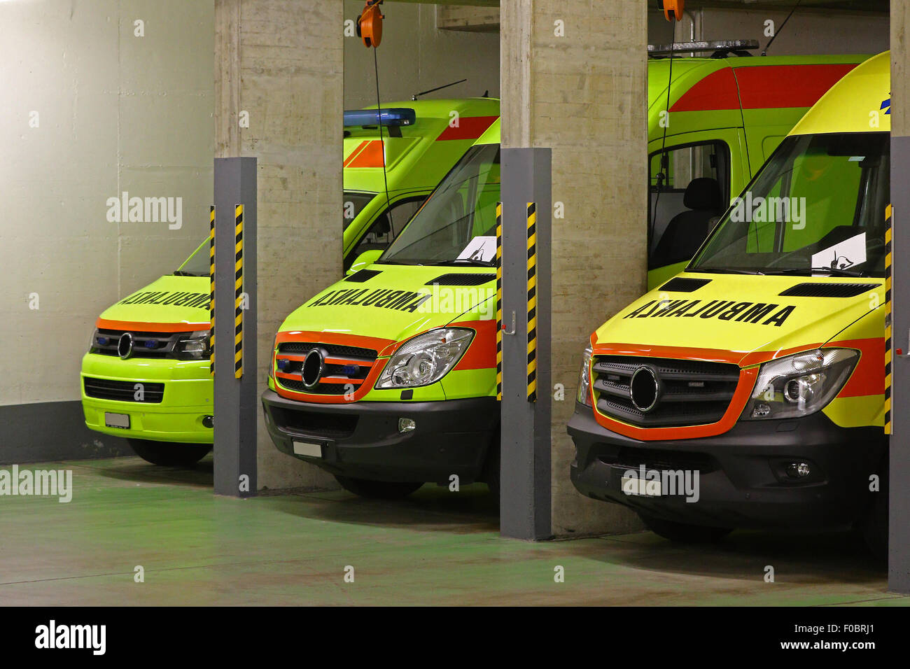 The night shift: ambulance service - Stock Image