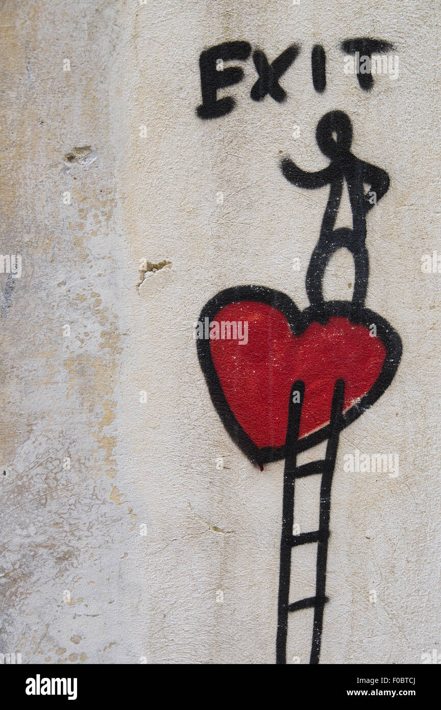 Broken Heart Painting High Resolution Stock Photography And Images Alamy
