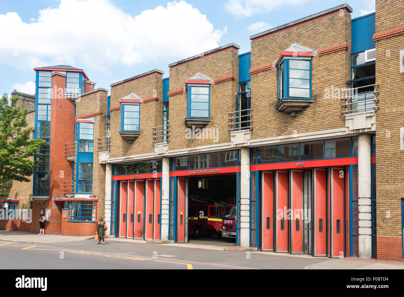 Islington Fire Station, Upper Street, Islington, London Borough of Islington, London, England, United Kingdom - Stock Image