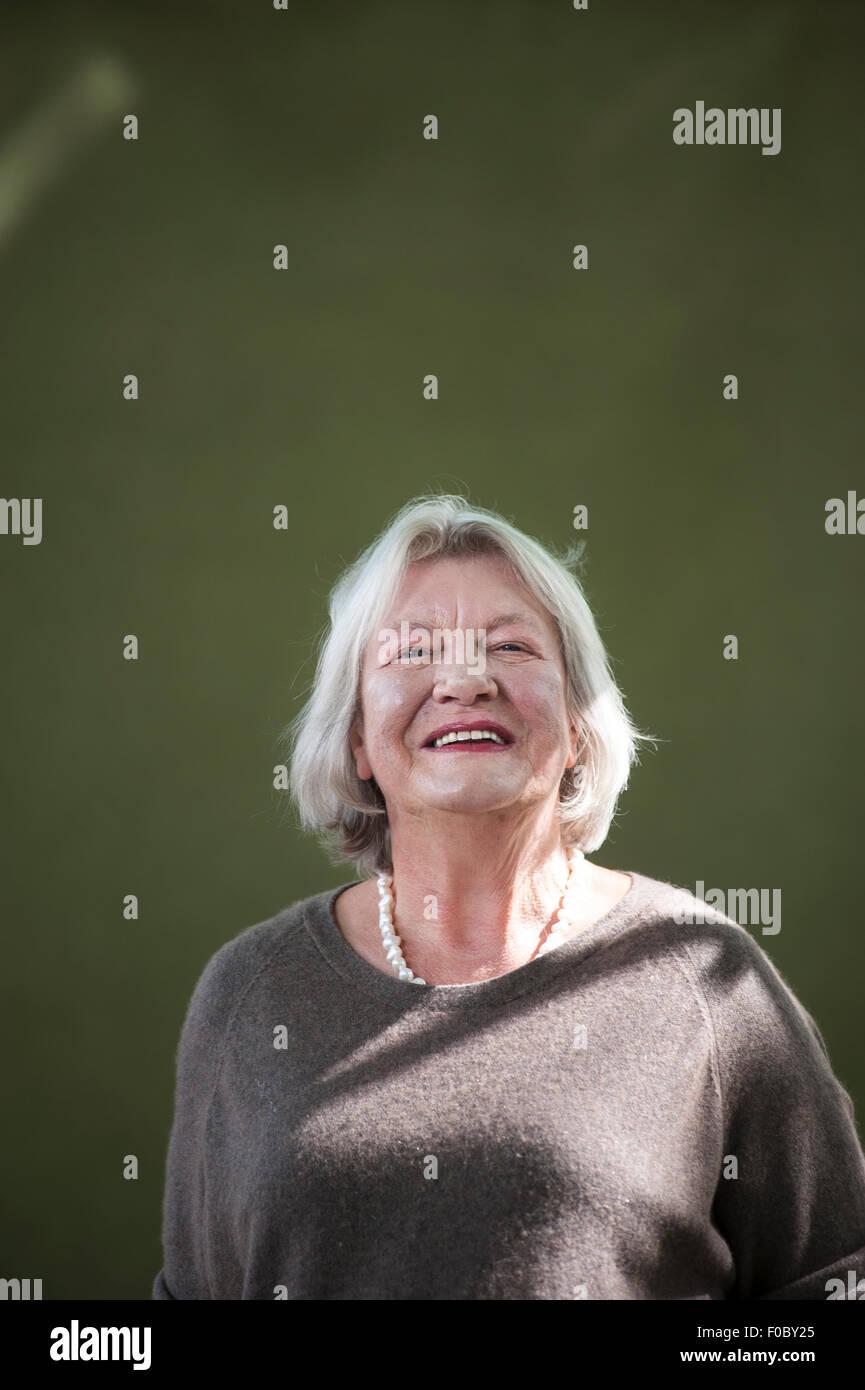 English journalist, Lynn Barber, appearing at the Edinburgh International Book Festival. - Stock Image