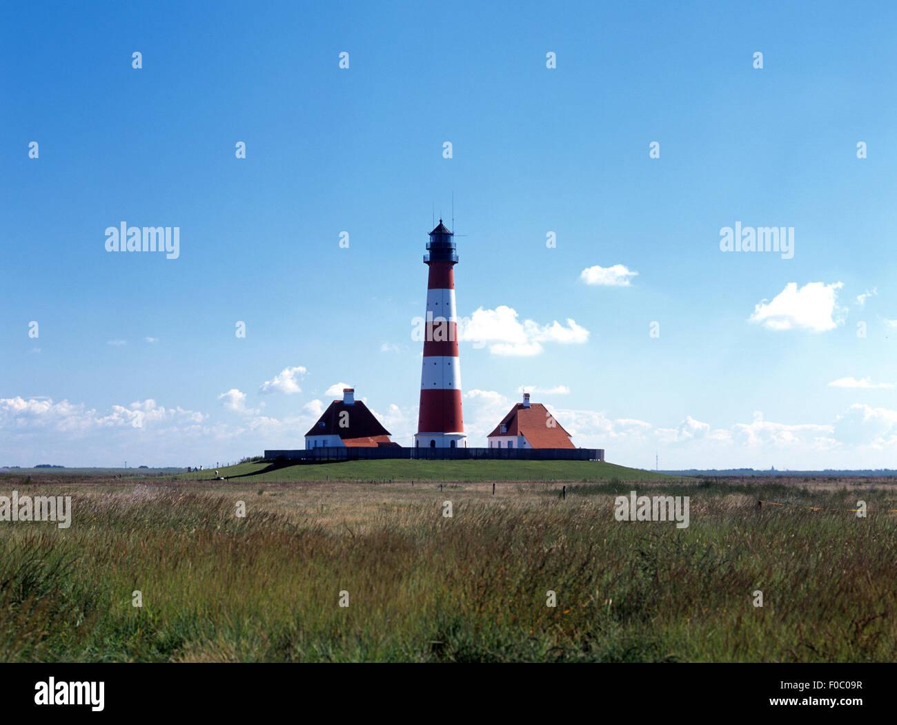 Leuchtturm, Westerheven - Stock Image