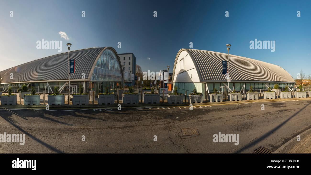 Brunel University campus buildings in Uxbridge, London, UK - Stock Image