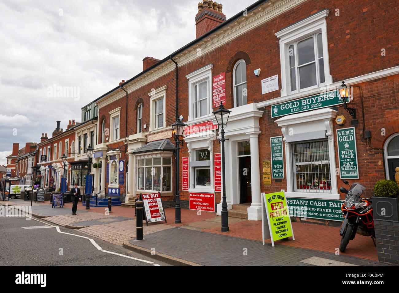 Jewellery Shops On Vyse Street Quarter Birmingham UK
