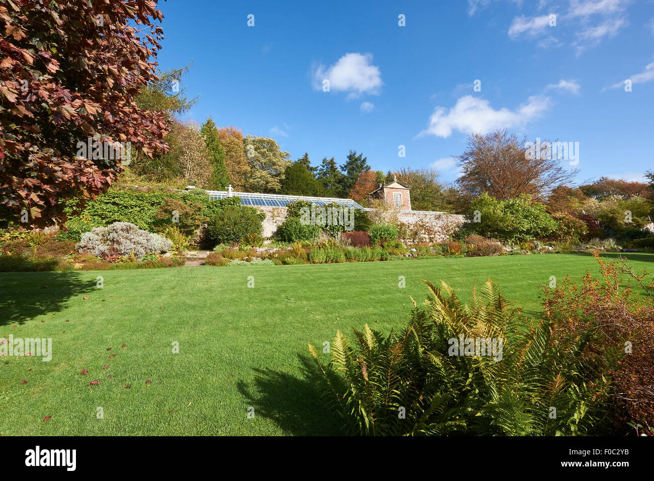 Wallington House Gardens in the North East England, UK. - Stock Image