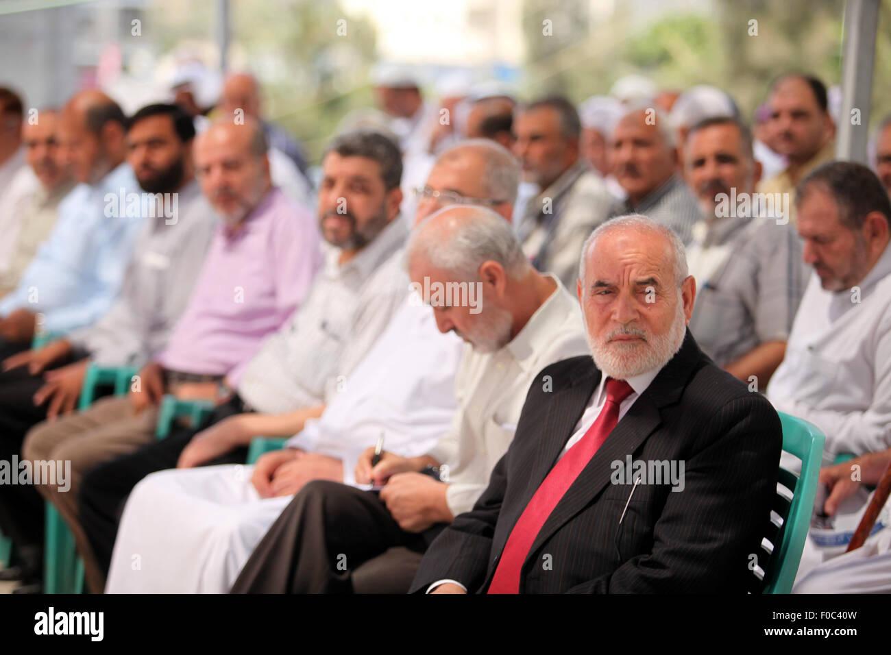 Gaza City, Gaza Strip, Palestinian Territory. 12th Aug, 2015. Palestinian members of the Legislative Council, take - Stock Image