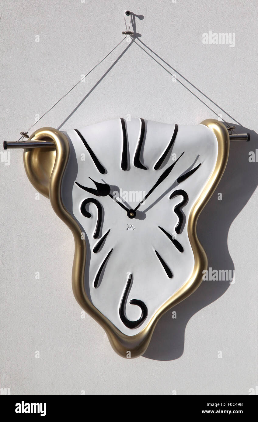 The Melting Watch by Salvador Dali - Stock Image