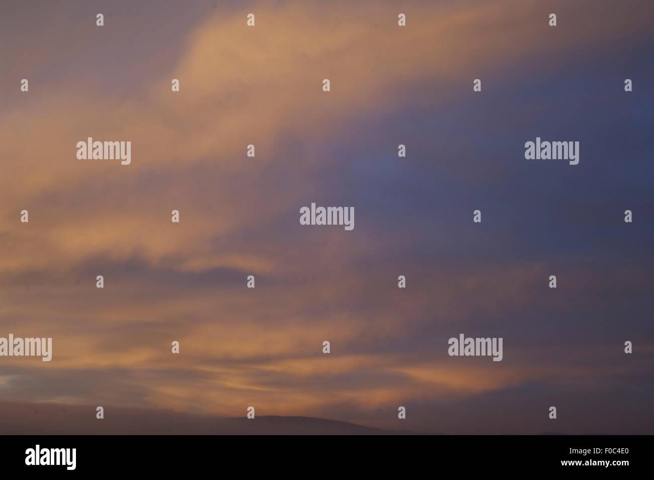 Morgenroete, Impression, Morgenstimmung, - Stock Image