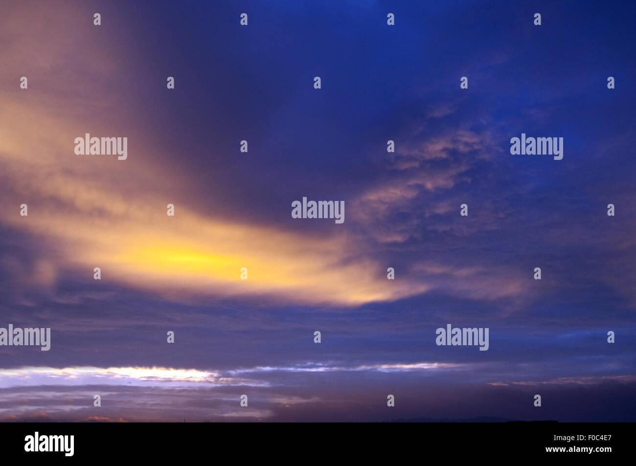 Morgenroete, Impression, Morgenstimmung, Stock Photo