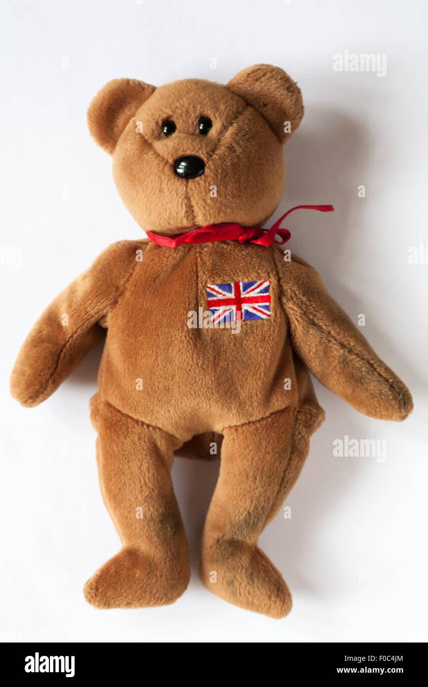Britannia ty beanie baby teddy bear isolated on white background ... 3e91cf83d38f