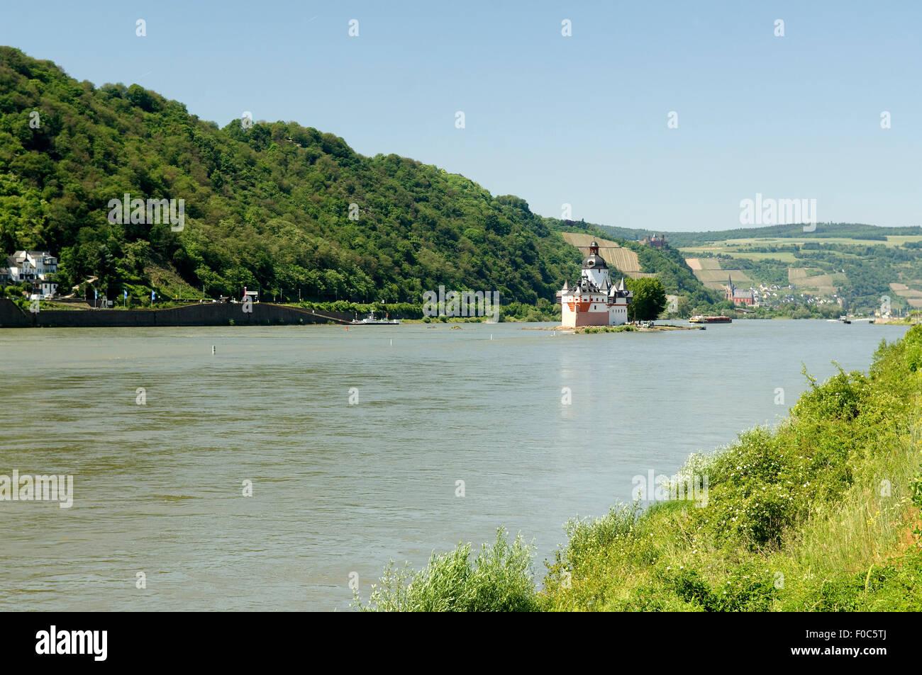 Pfalzgrafenstein, Burg, Pfalz, steinernes, Schiff Stock Photo