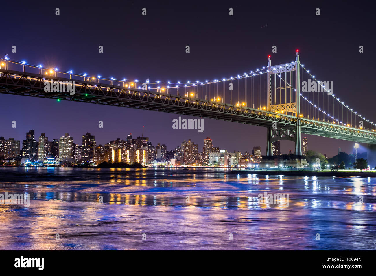 Ed Koch Queensboro bridge in New York City looking towards Manhattan - Stock Image