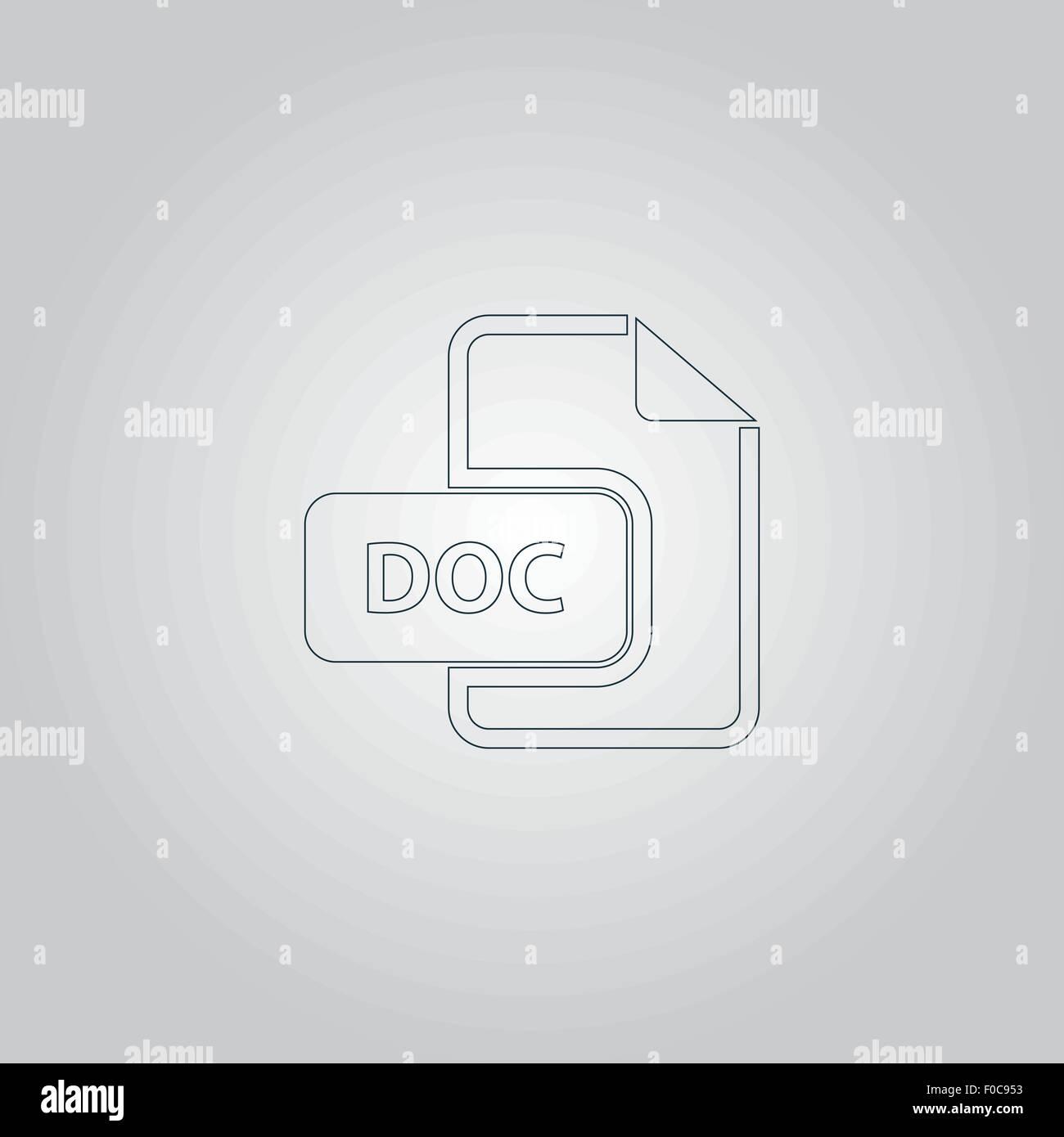 doc vector file extension icon stock vector art illustration
