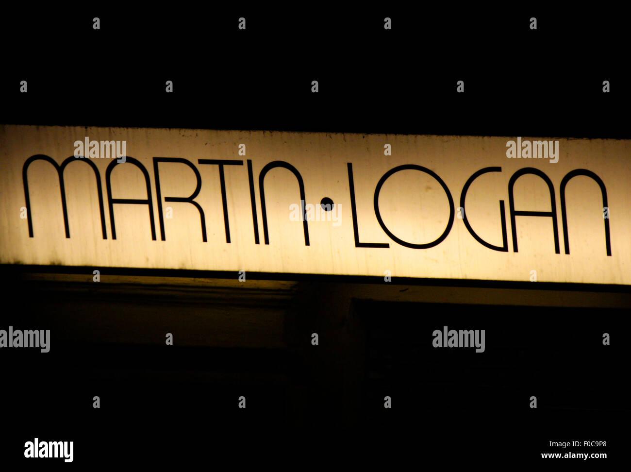 Markenname: 'Martin Logan', Dezember 2013, Berlin. - Stock Image