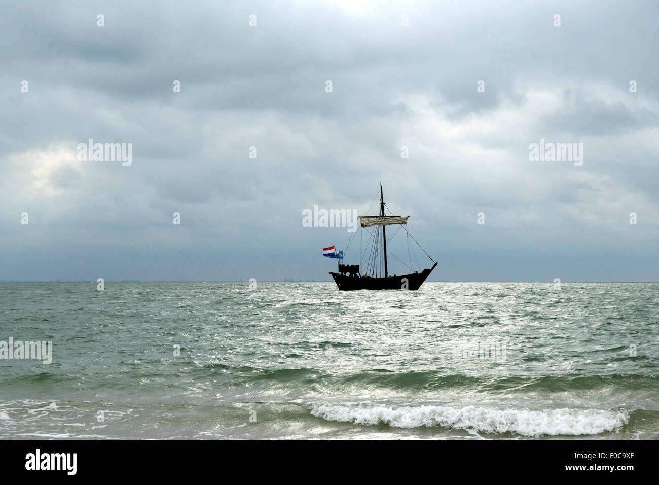 Segelboot, Nordsee, - Stock Image
