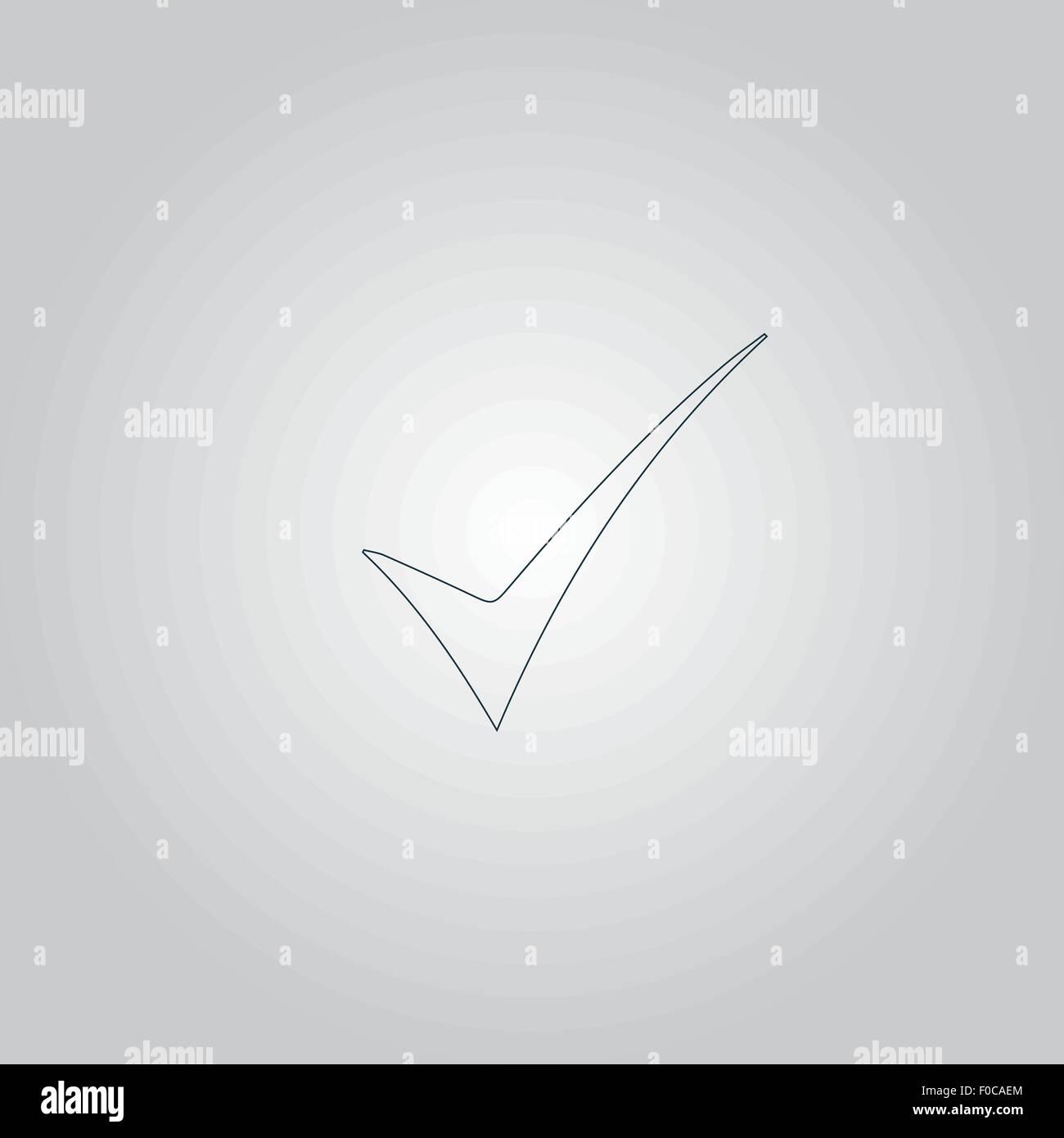 Elegant Check mark symbol Stock Vector Art & Illustration, Vector