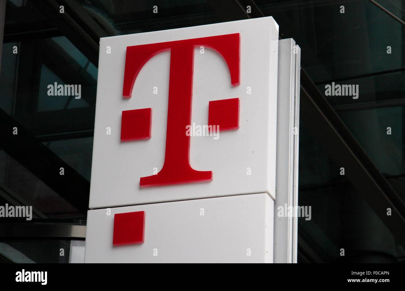 Logo der Deutsche Telekom. Stock Photo