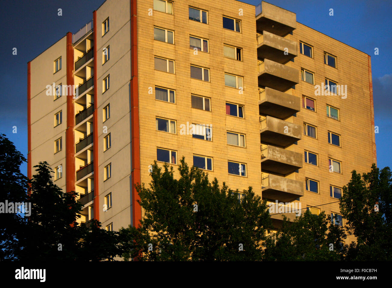 Hochhaus, hansaviertel, Berlin -Tiergarten. - Stock Image