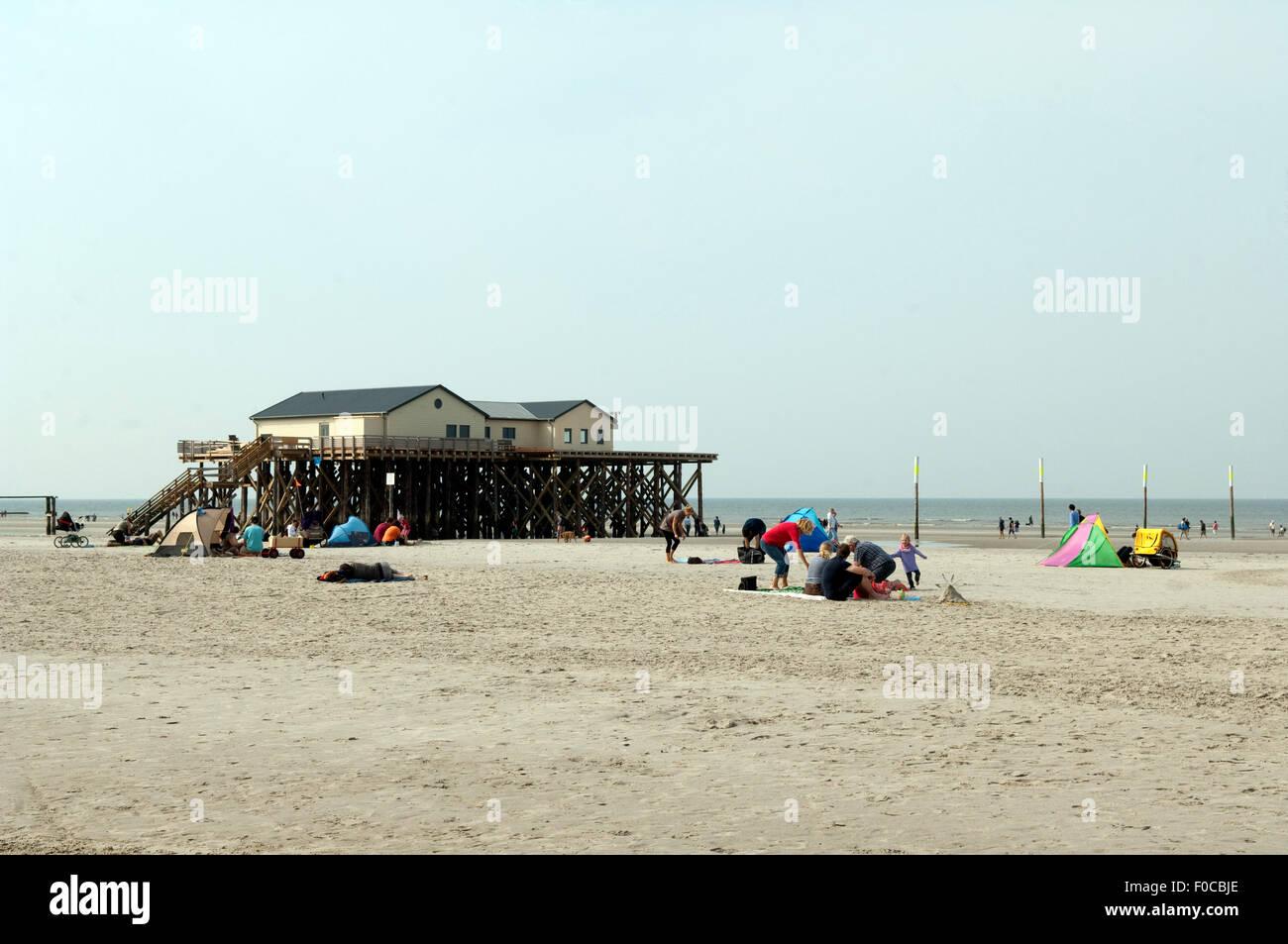 Strand, Sankt Peter-Ording, - DEU, Deutschland, - Stock Image