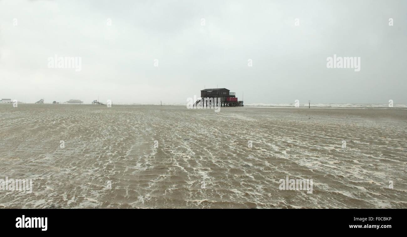 Sturm, Strand, Flut, - DEU, Deutschland, - Stock Image