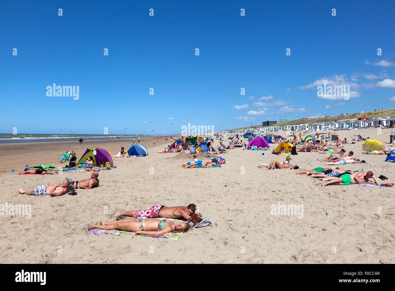 Beach in North Holland - Stock Image
