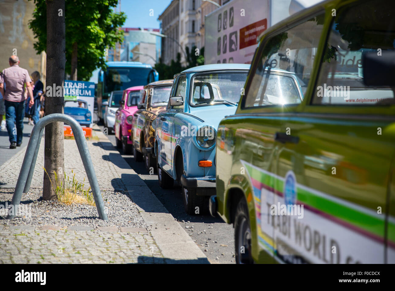 Trabi car tours, Berlin - Stock Image