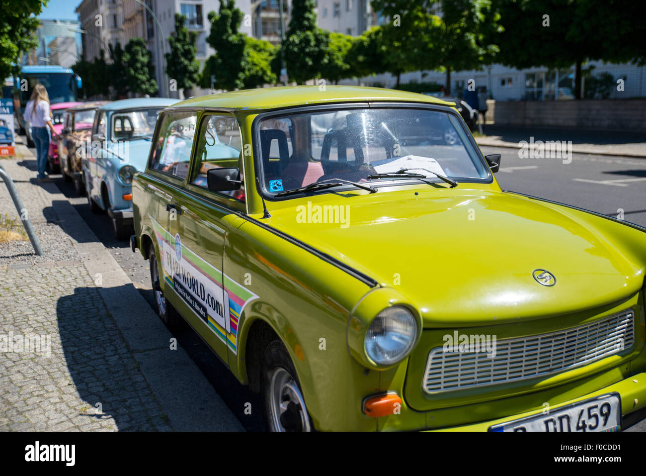 Trabi car tours, Berlin - Stock Image