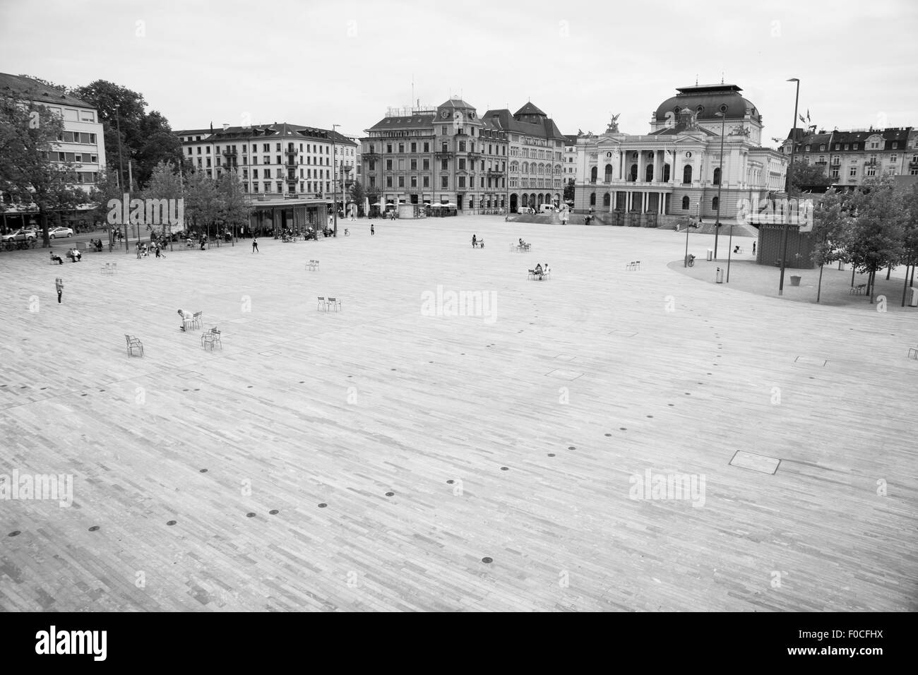 Cityscape in Zurich - Stock Image